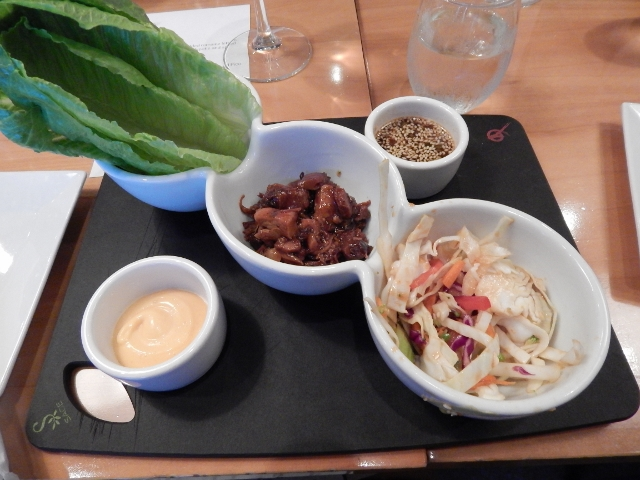 Lettuce Wraps at 4 Daughters Winery.