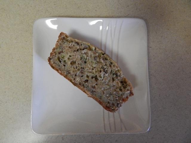 Enjoy a slice of zucchini bread with or without butter. It is delish!