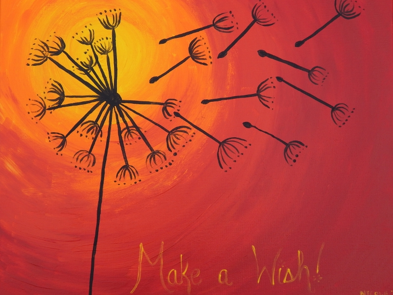 Make a Wish painting for Wine and Canvas