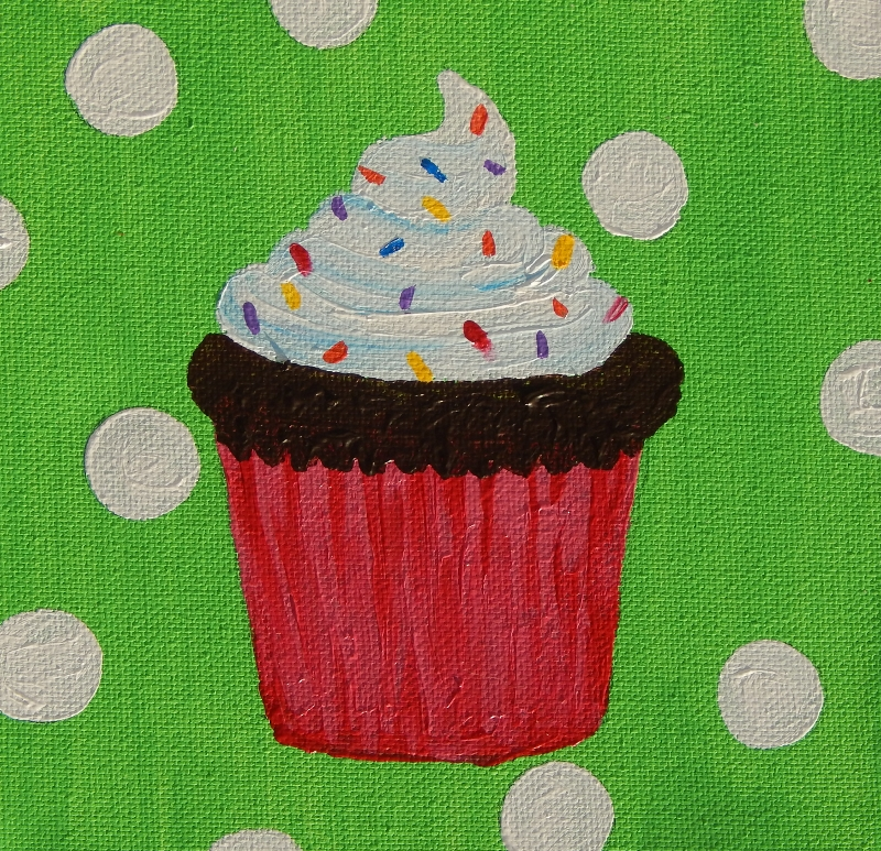 Cupcake Painting for a birthday party