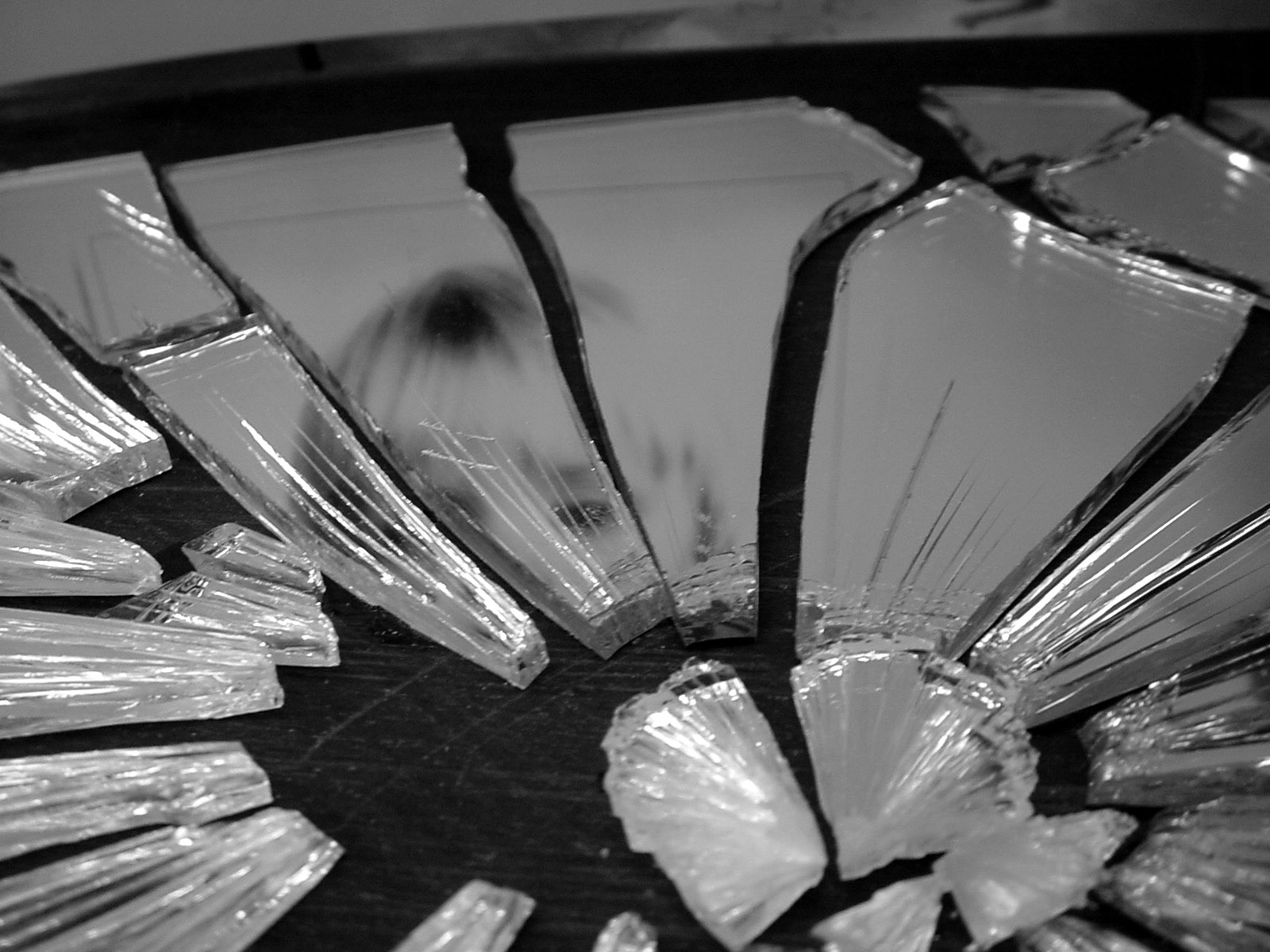 shattered mirror haiku