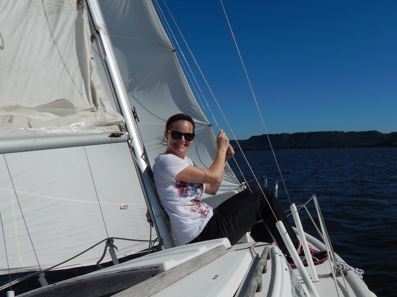 My first time sailing!